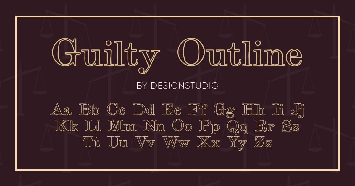 Guilty outline  style in brown color.