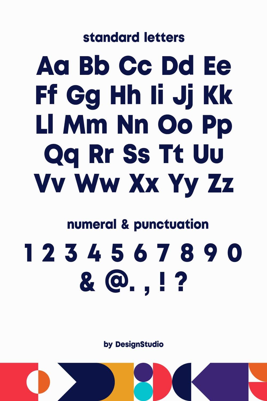 Standard letters of the Jubilation Monospaced Sans Serif Font.