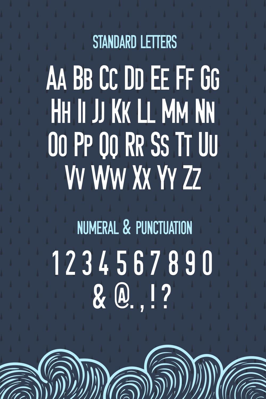 Standard letters of the Petrichor Monospaced Sans Serif Font.