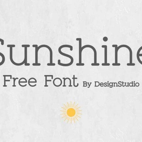 Sunshine Slab Sans Serif Font Example.