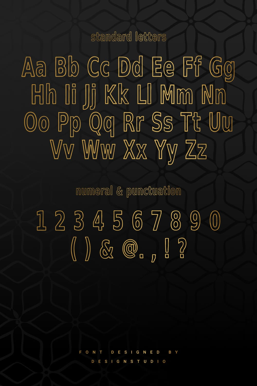 Standard letters of Surrender Outline Sans Serif Font.