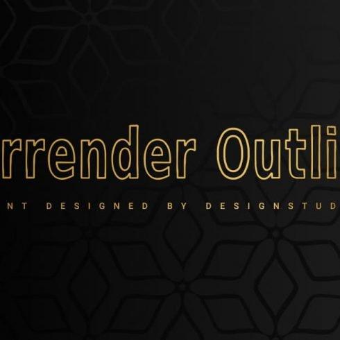Surrender Outline Sans Serif Font Example.