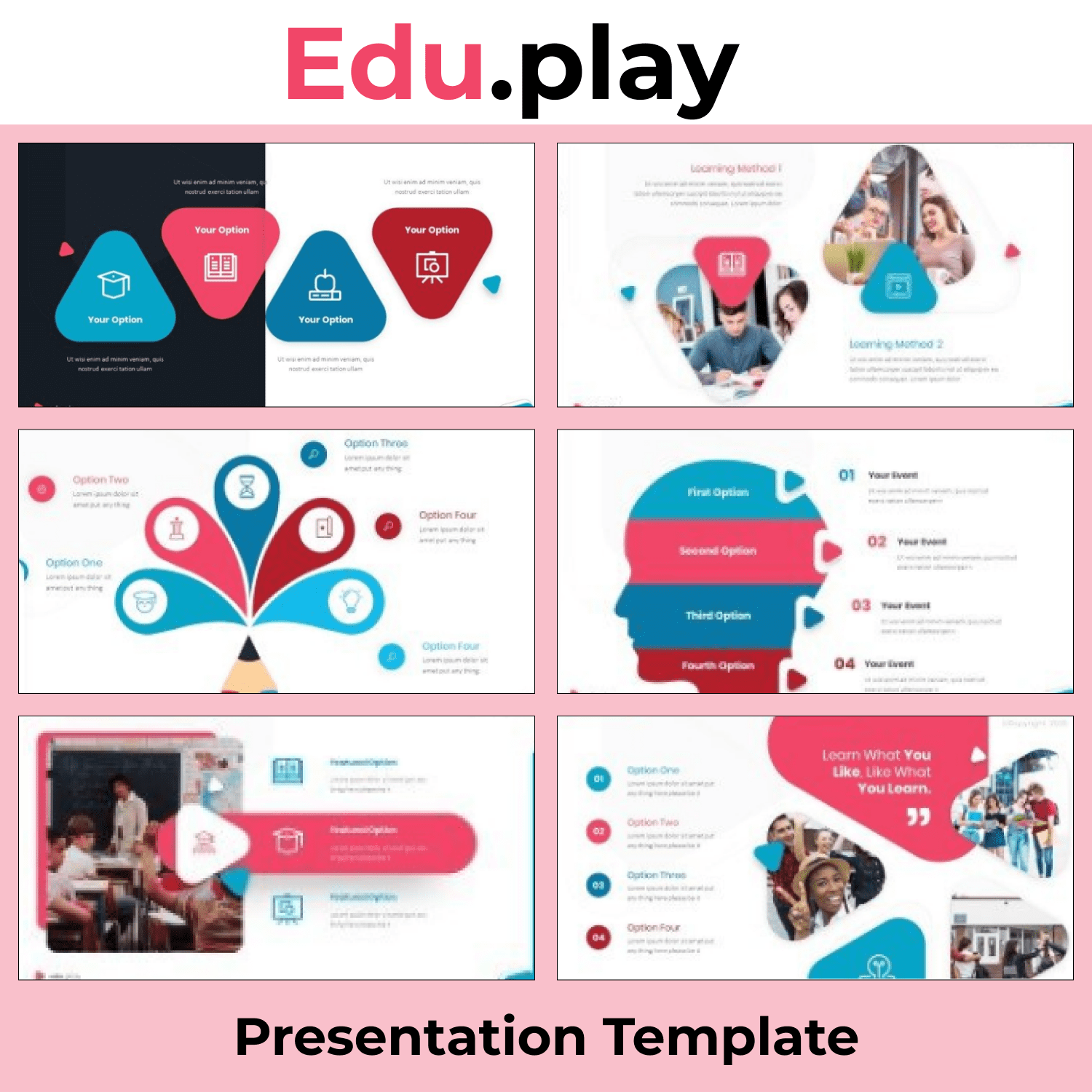 Eduplay Smart Powerpoint Template cover image.