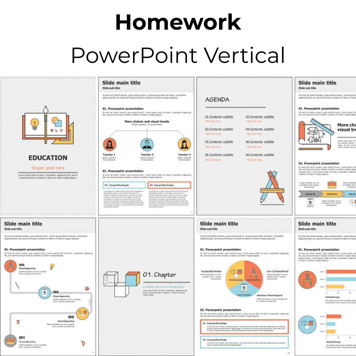 Homework PowerPoint Vertical cover image.