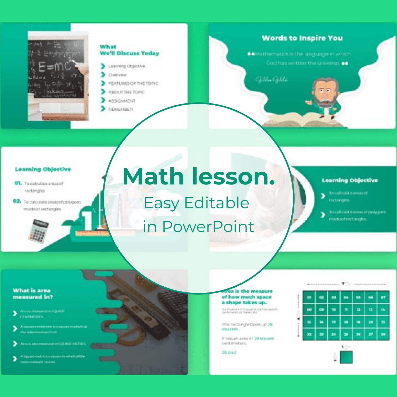 Math Lesson – Mathematics PPTX cover image.