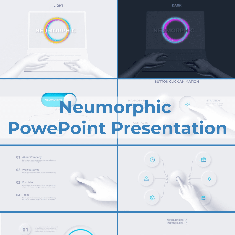 Neumorphic PowePoint Presentation main cover.