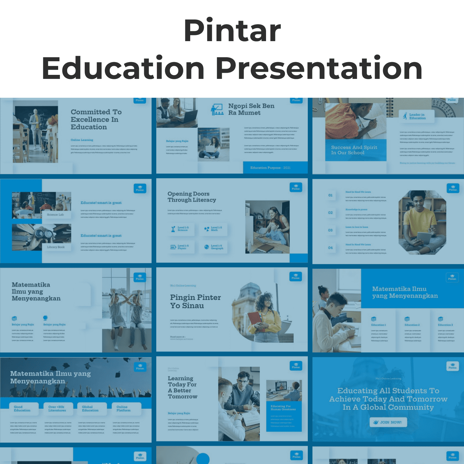 Pintar - Education Powerpoint cover image.