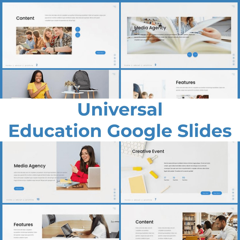 Universal - Education Google Slides main cover.