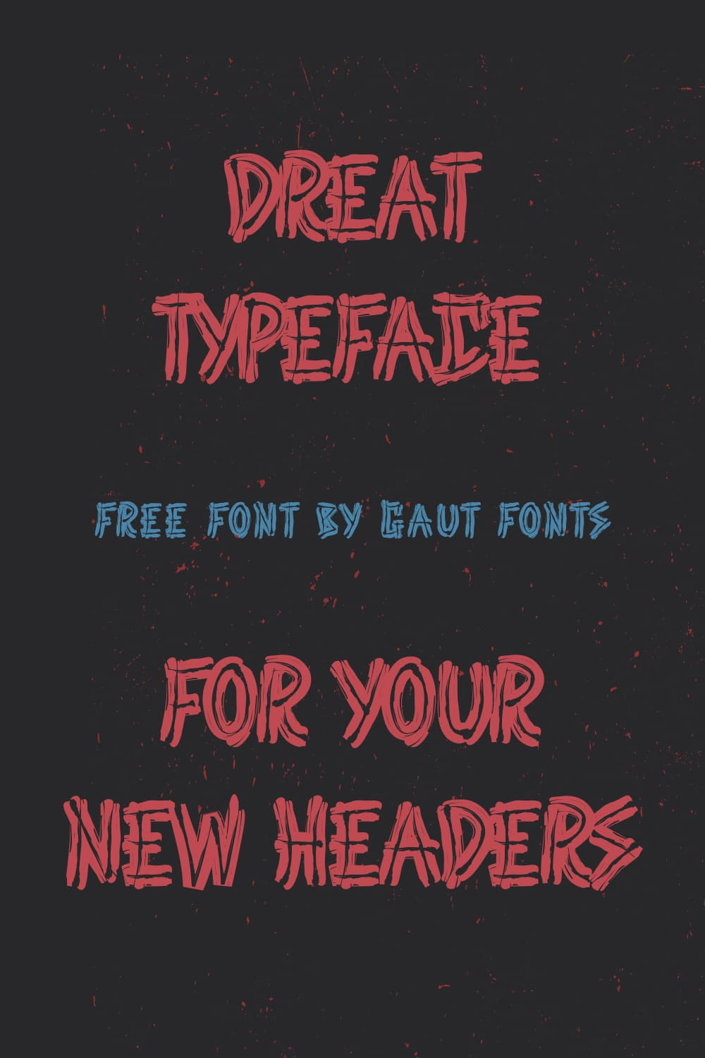 Red font, like a brushstroke on a black background.