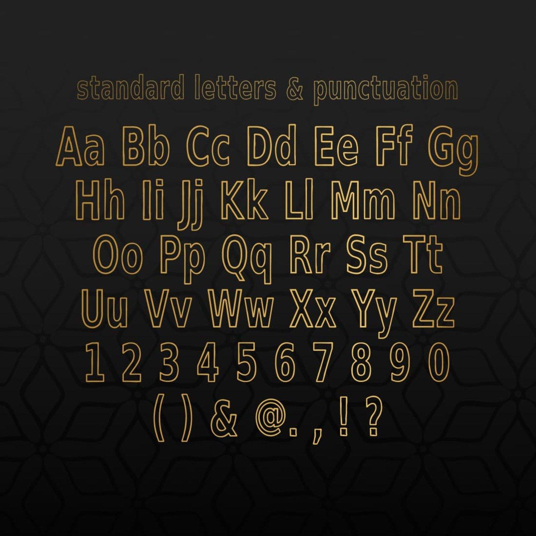 Surrender Outline Sans Serif Font cover image.