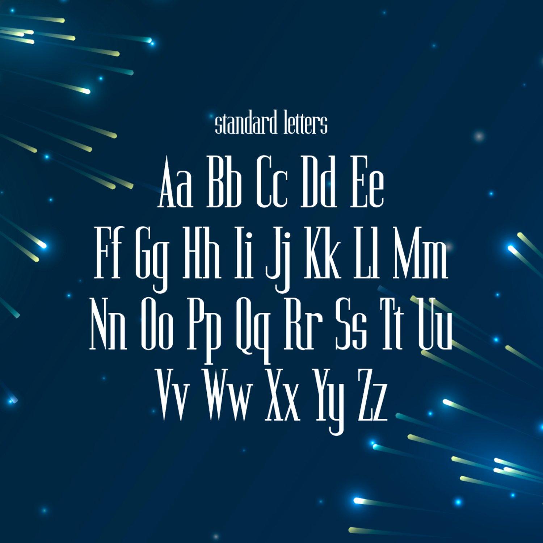 02. Twinkling Monospaced Serif Font 1100 x 1100