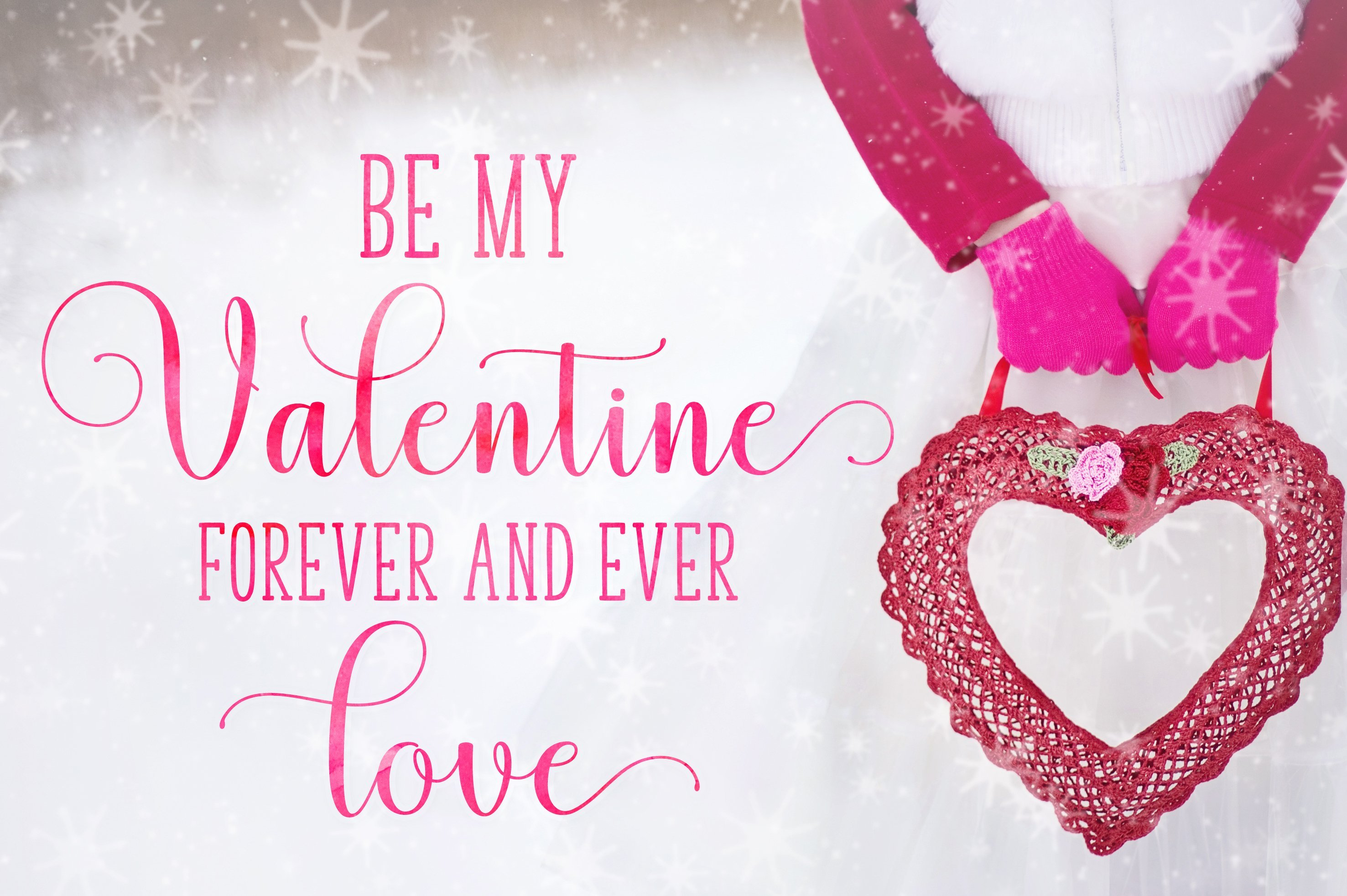 This font is perfect for declaration of love.
