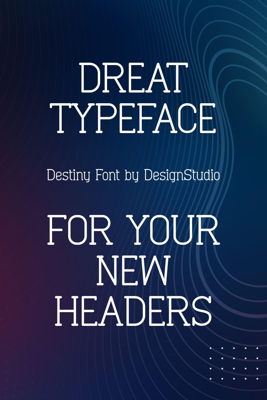 Twinkling Monospaced Serif Font Pinterest Preview.