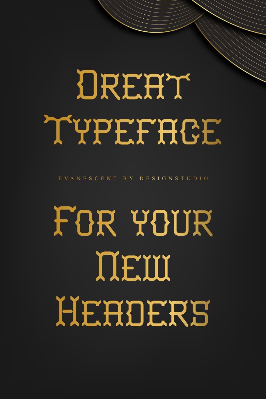 An ornamental typeface that conveys a distinctive style.