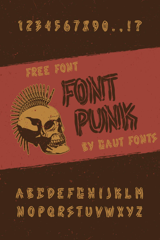 MasterBundles Free Punk Font Pinterest Collage Image.