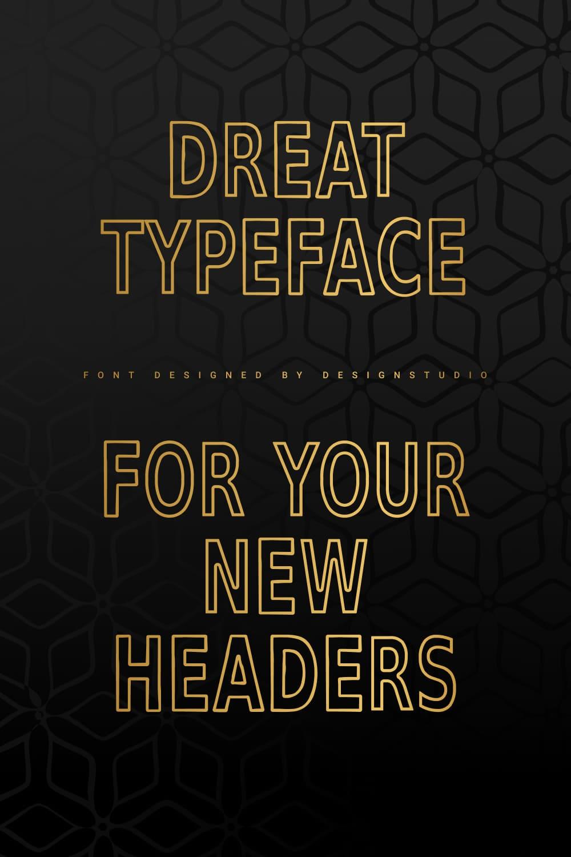 Surrender Outline Sans Serif Font Pinterest Preview.