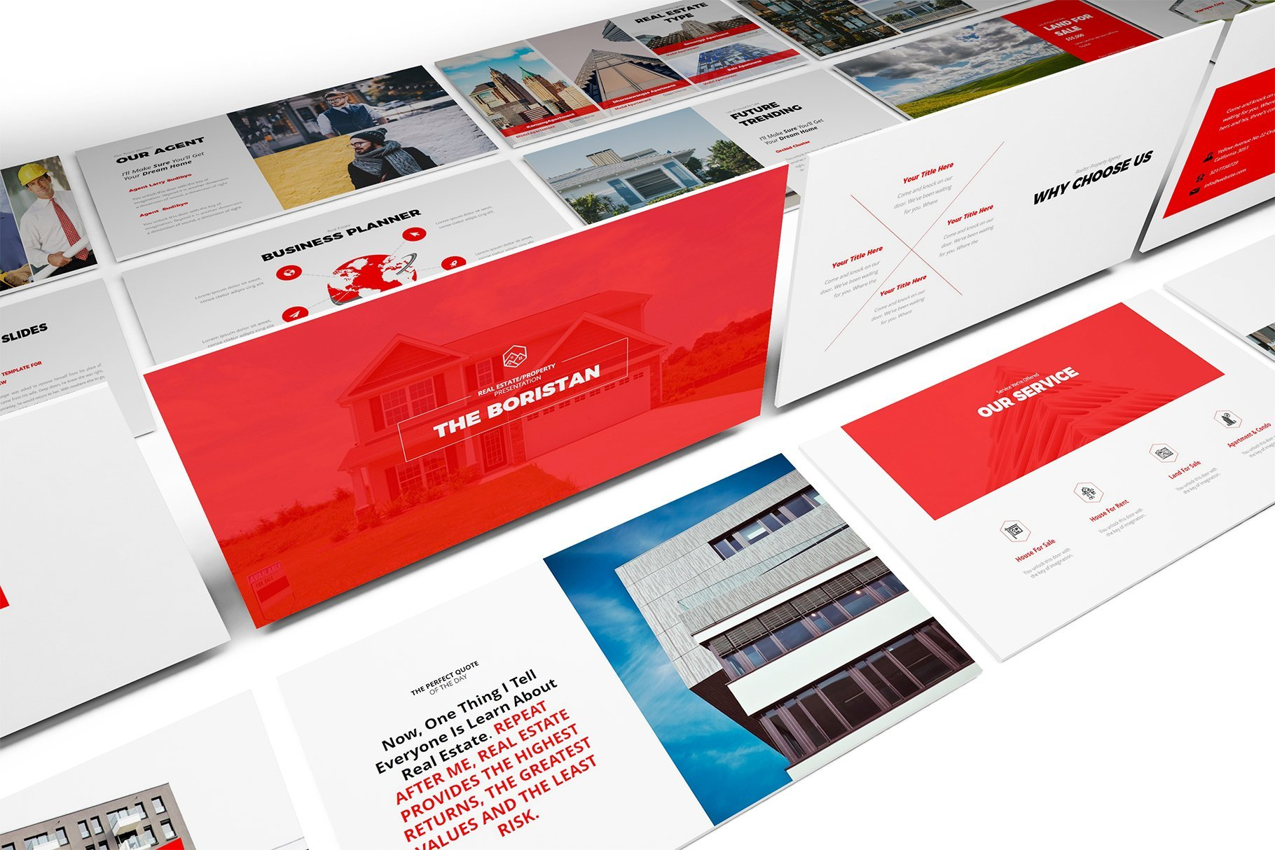 The template has a lot of accentuating elements to emphasize the main thing.