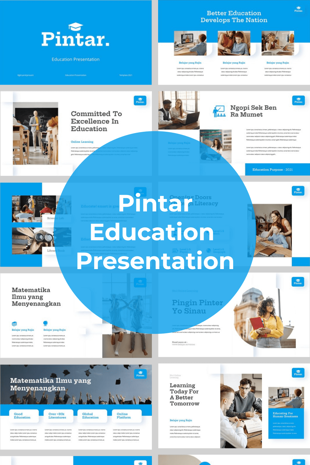 This is a modern and creative template for interesting presentation.