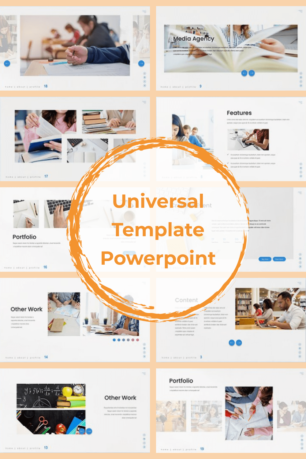 Simple and comfort template for education presentation.