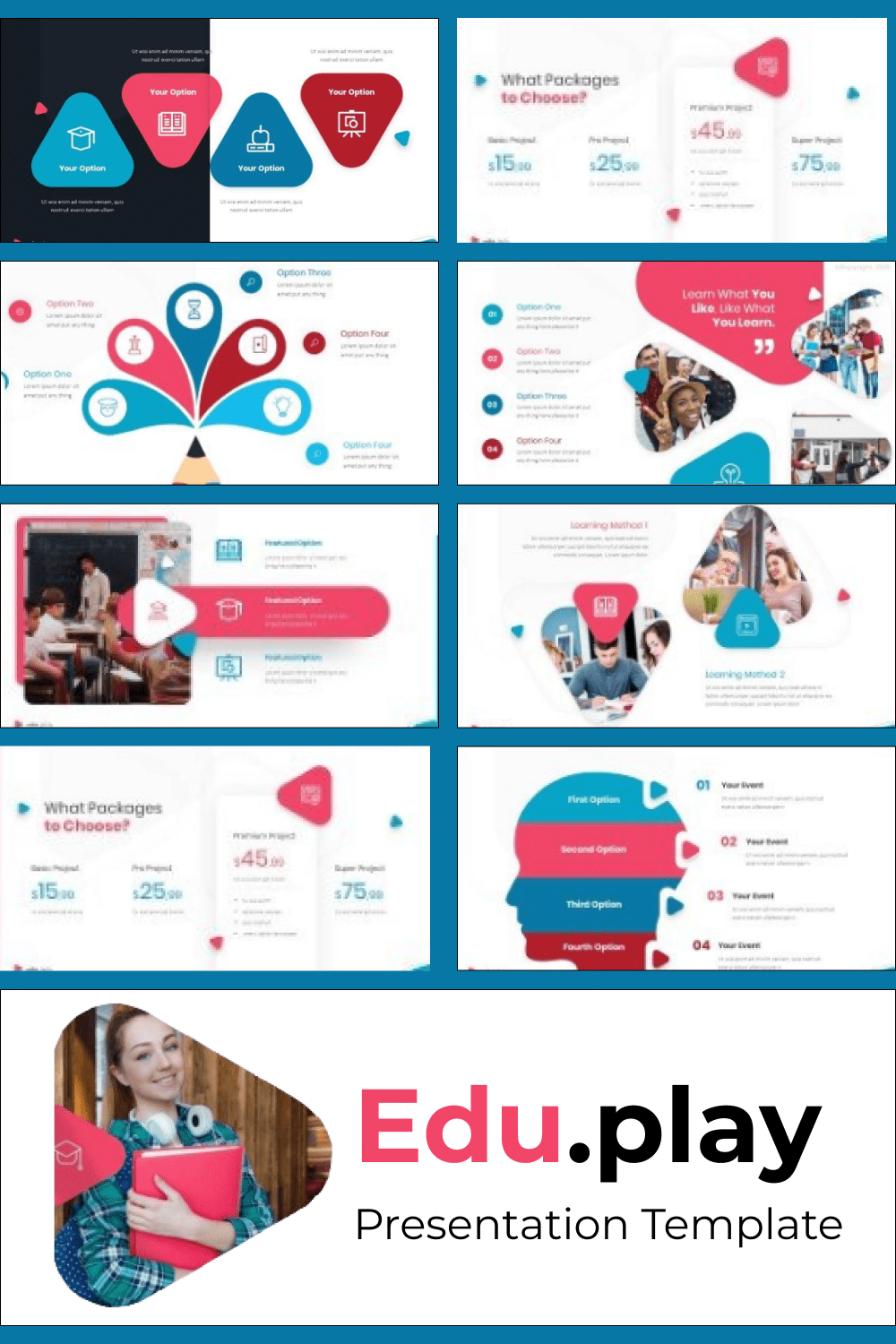 This template has a full collection of vivid graphics and infographics which will decorate your presentation.