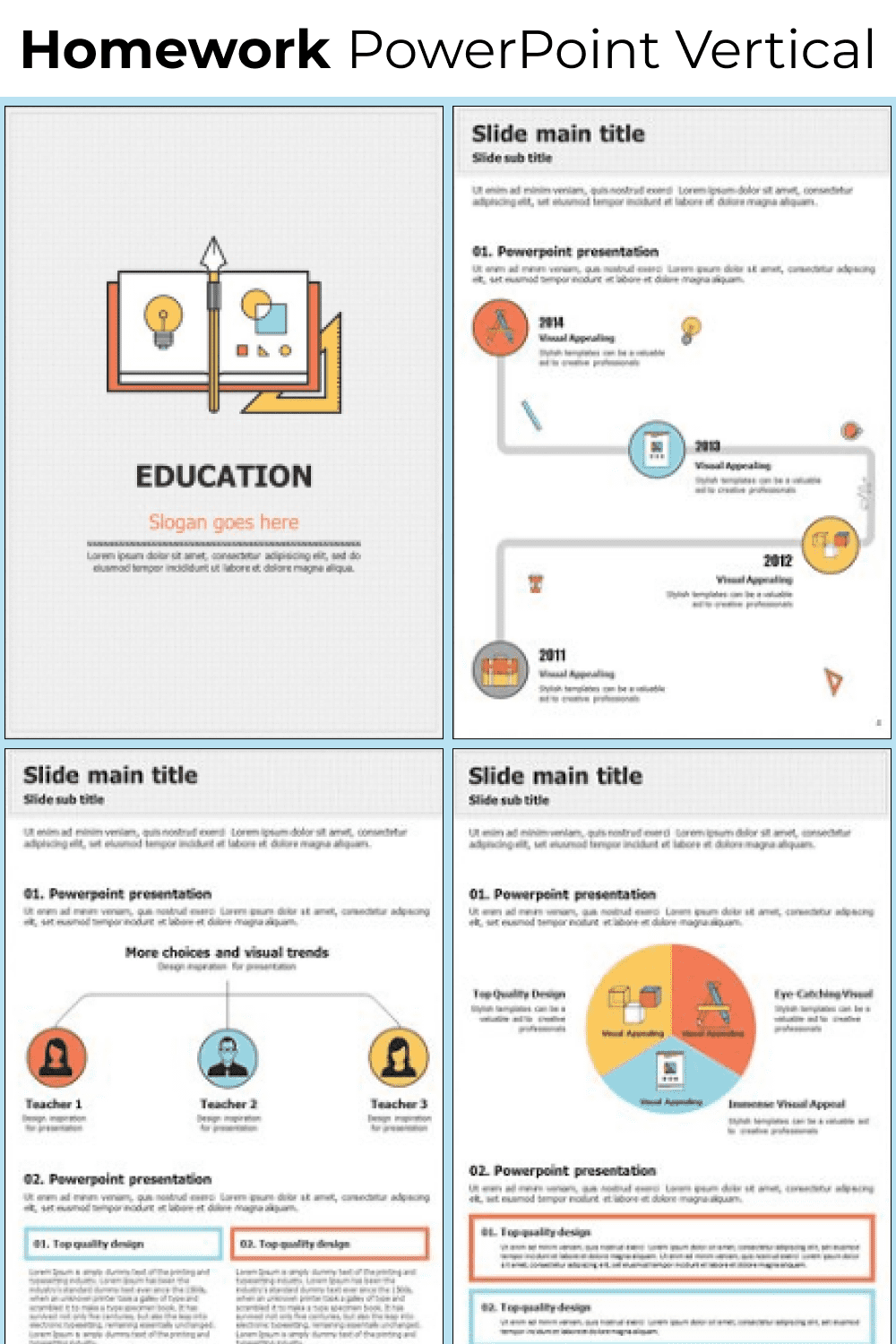 The template collection features simple and straightforward diagrams and infographics.