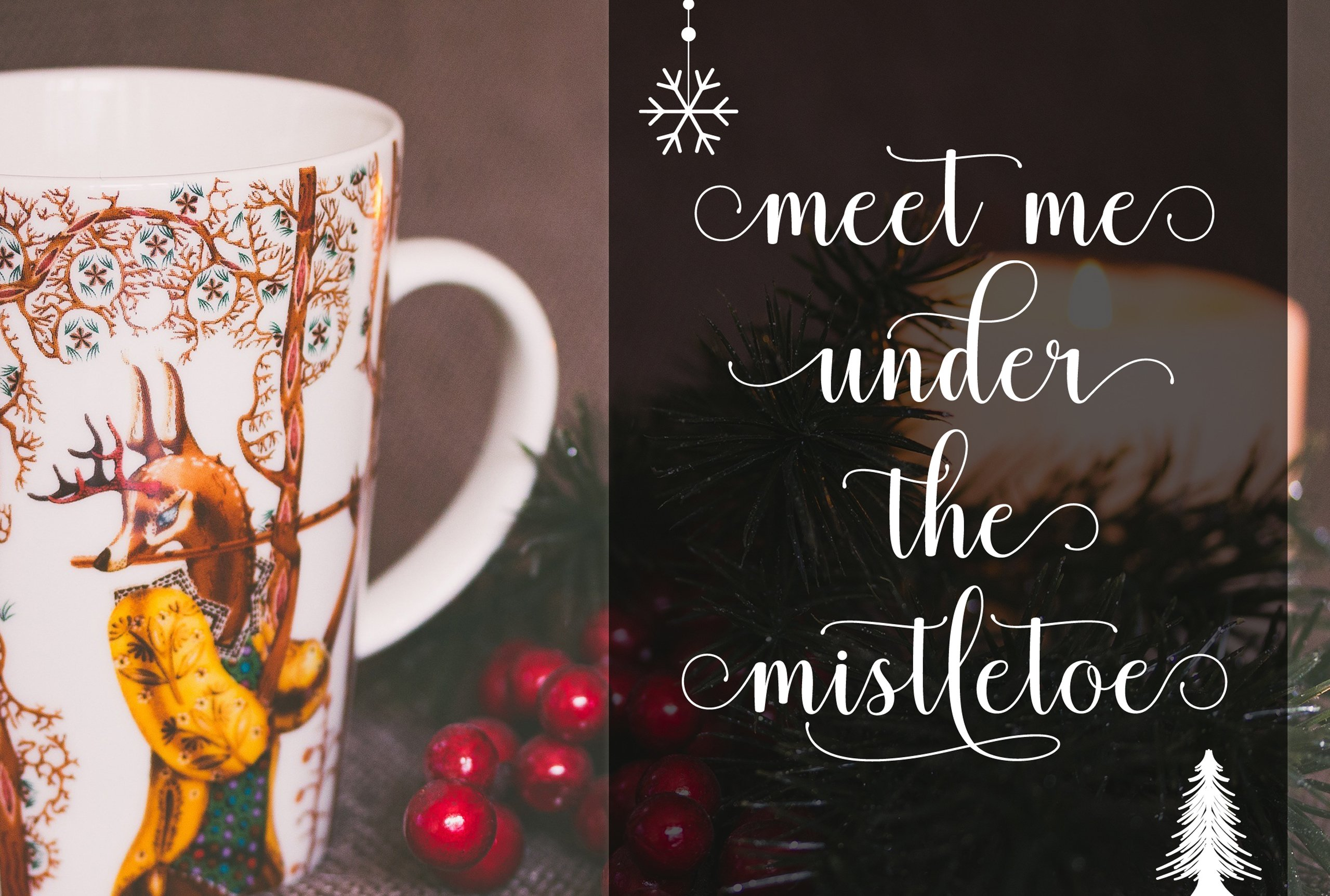 Christmas time with the festive font.