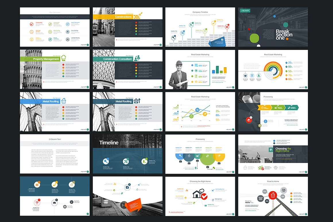 The template collection includes illustrations and diagrams.