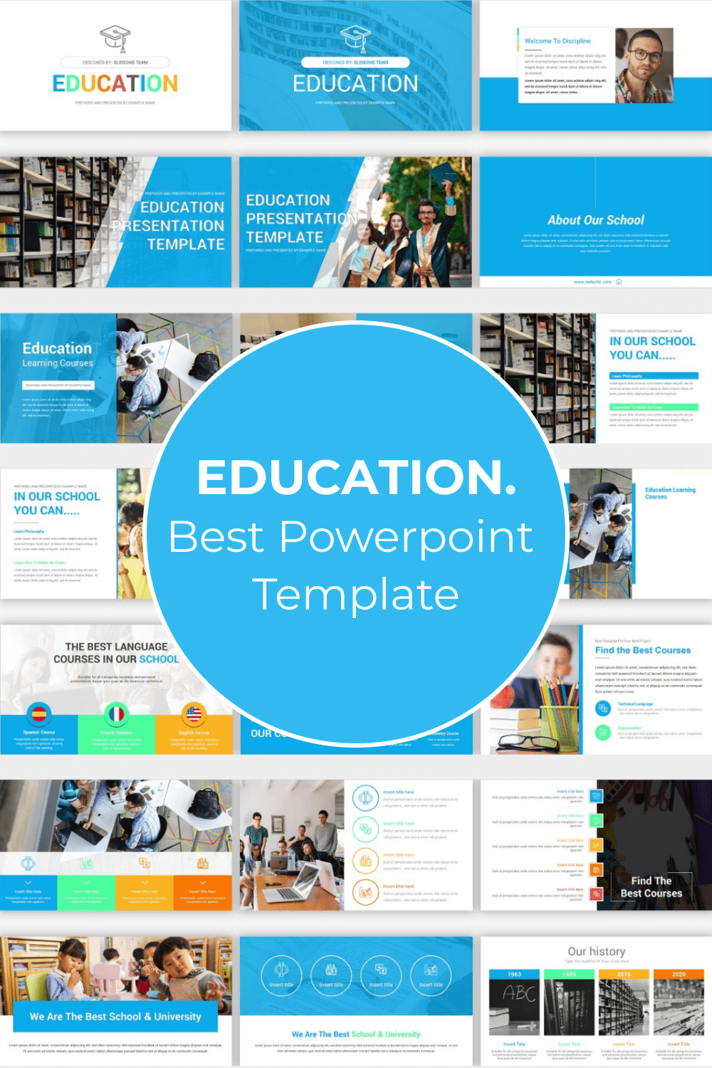 This is the perfect template for educational purposes. It will help convey even the most complex information to the audience.