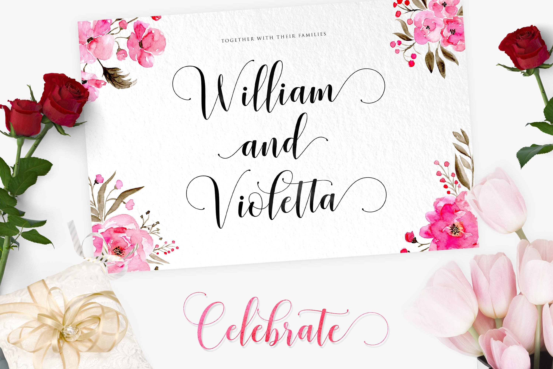 Romantic matt cards with watercolor