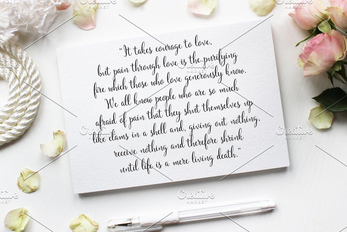 Long letter from lover.