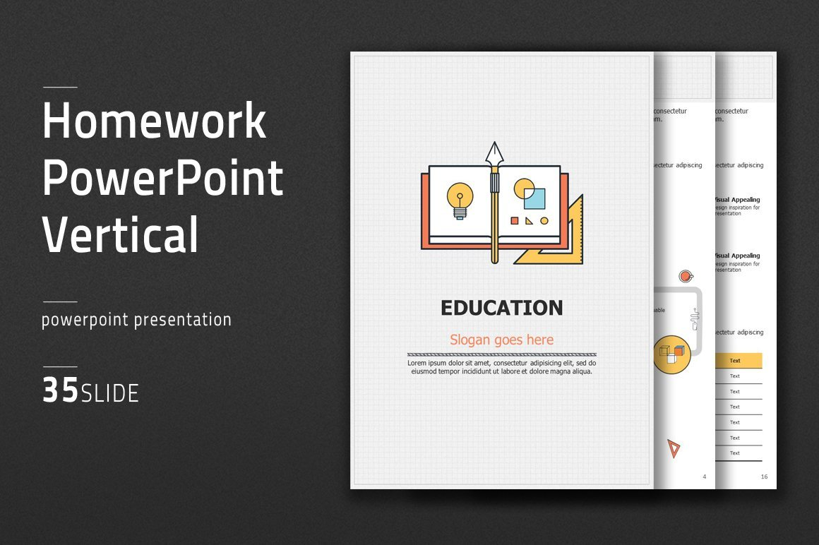 A discreet stylish template for showcasing educational projects.