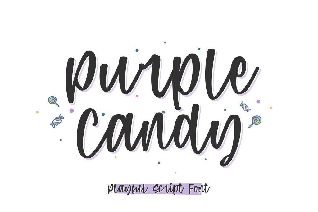 Purple Candy - Playful Script Font Facebook Preview.