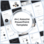 A4 | Assume PowerPoint Template main cover.
