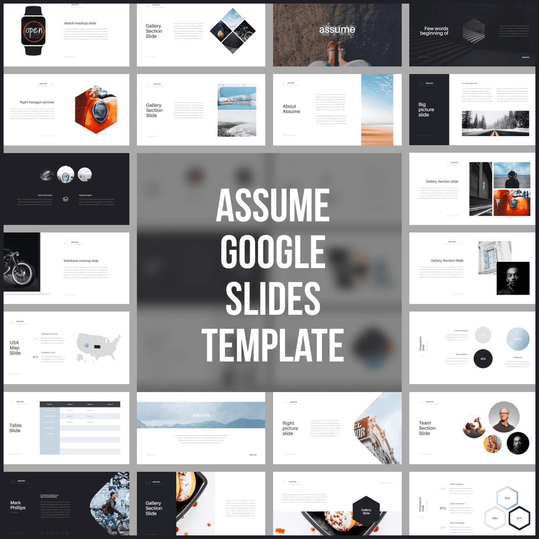 Assume Google Slides Template main cover.