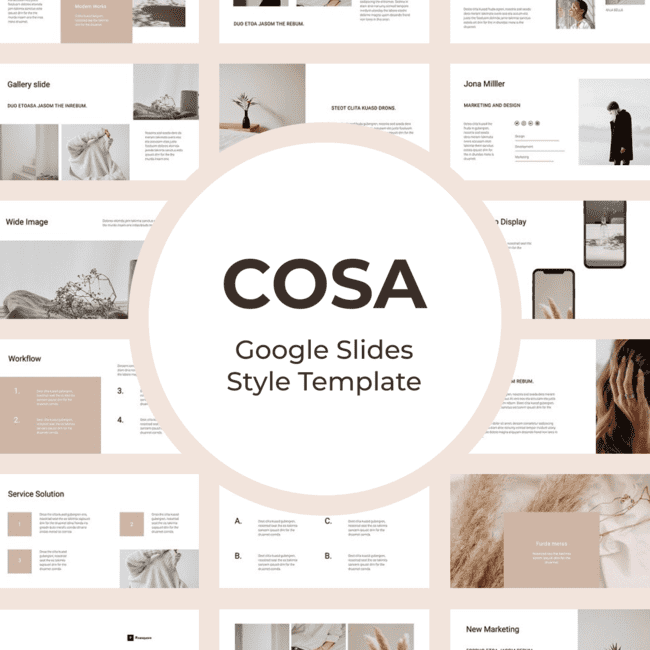 COSA Google Slides Style Template main cover.