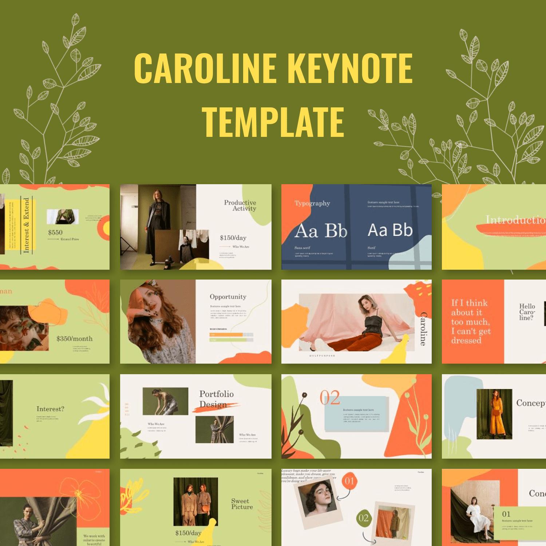 Caroline Keynote Template main cover.