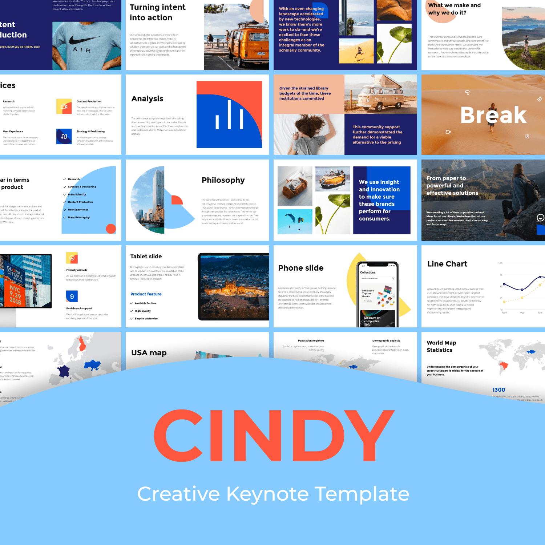 Cindy - Creative Keynote main cover.