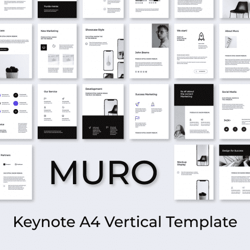 MURO Keynote A4 Vertical Template main cover.