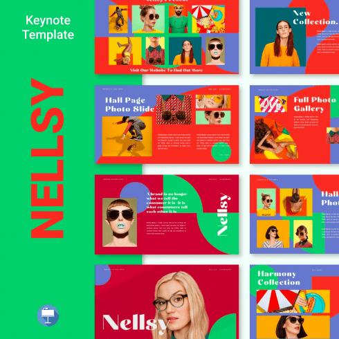 Nellsy Keynote Template main cover.