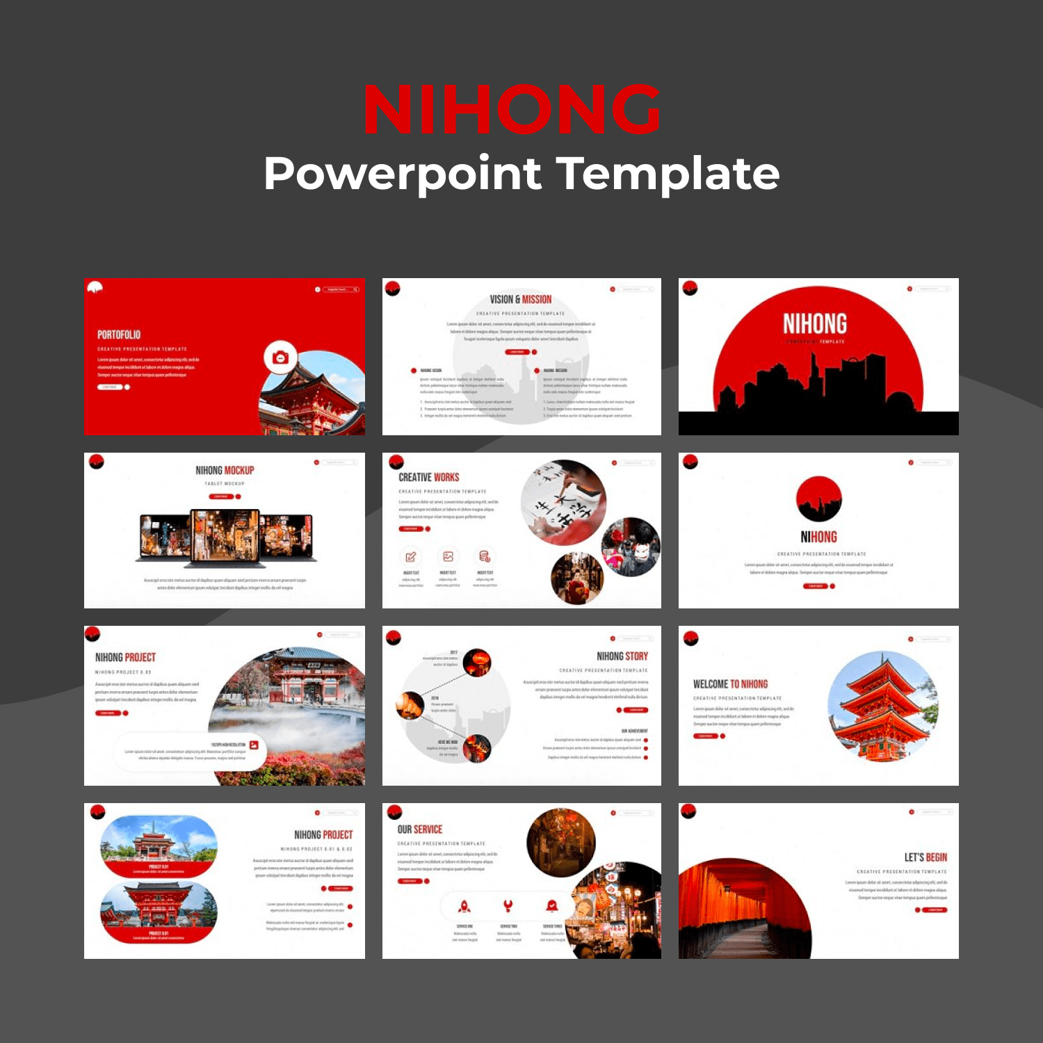 Nihong Powerpoint Template main cover.