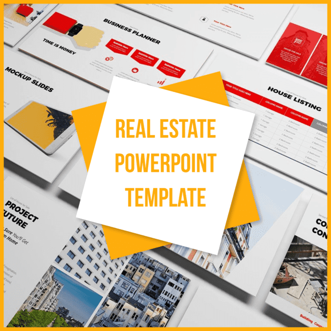 Real Estate Powerpoint Template main cover.