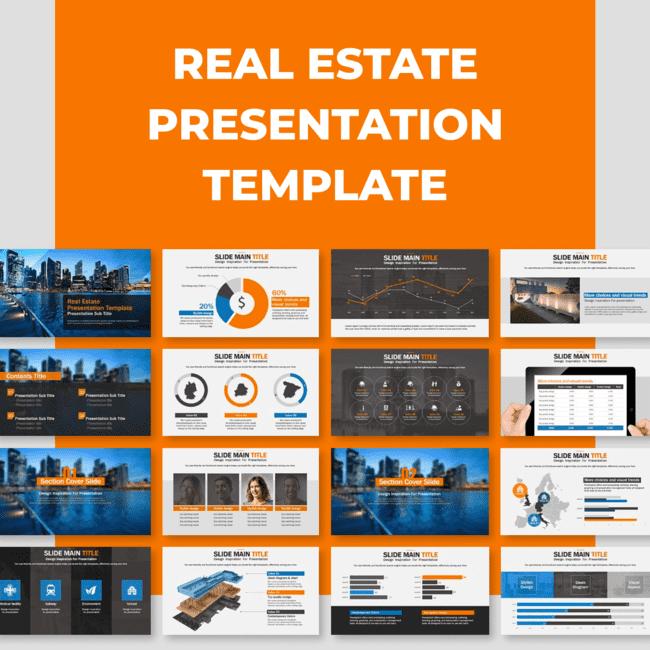 Real Estate Presentation Template main cover.