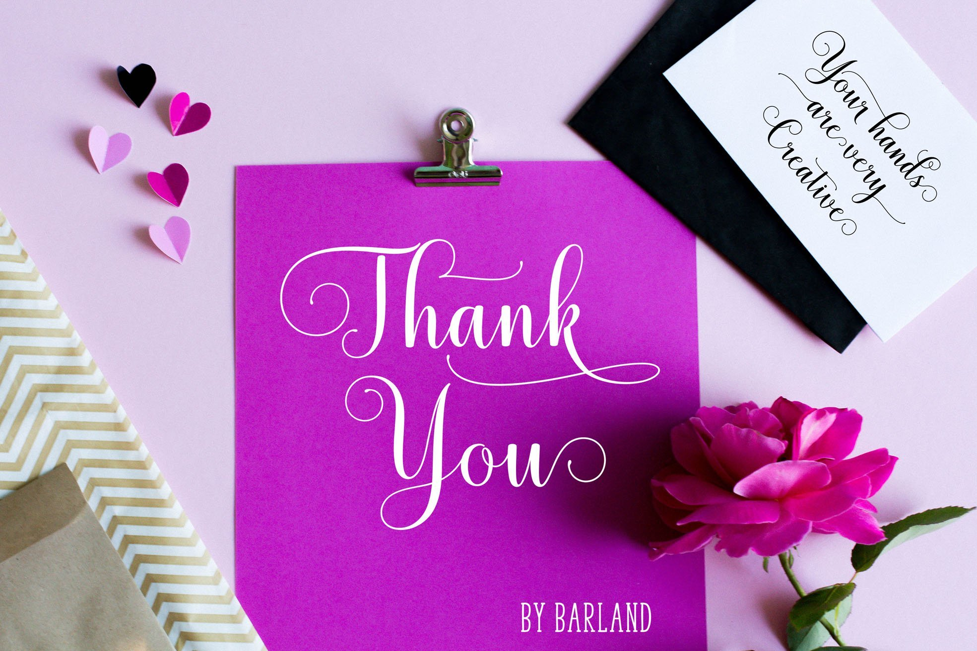 Thanks card in a very delicate and modern style.