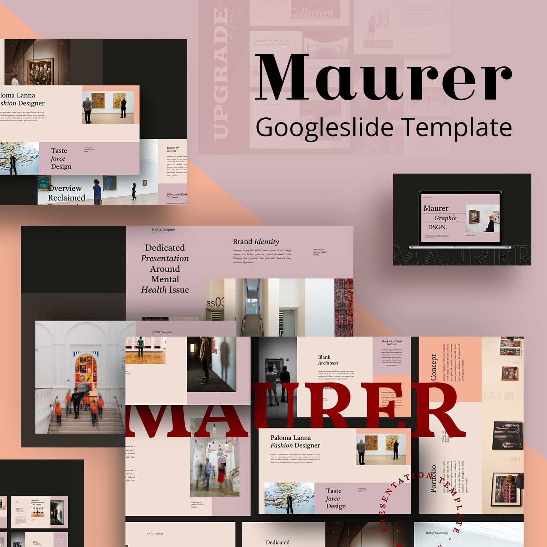 Maurer Googleslide Template main cover.