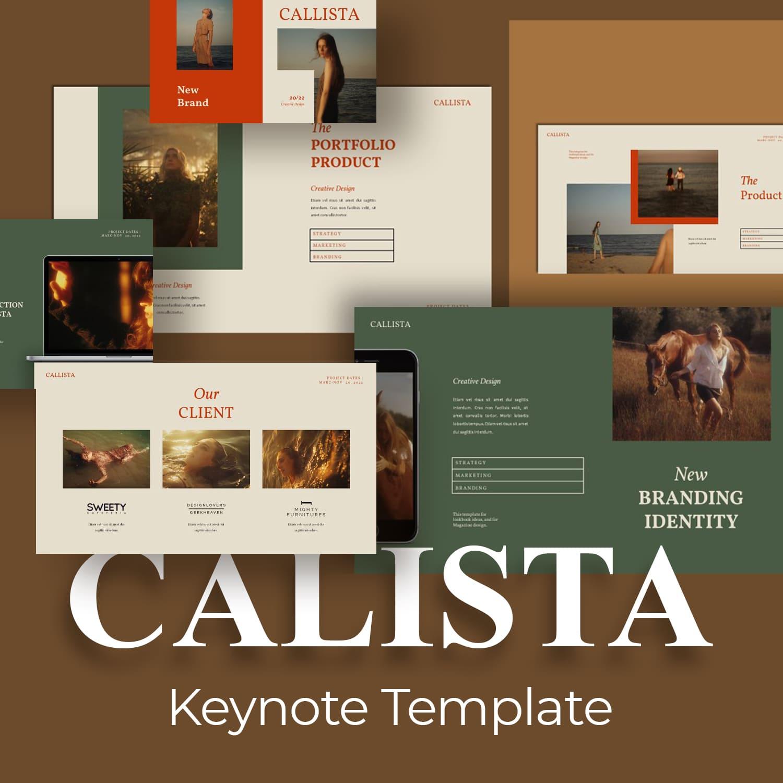 Calista Keynote Template main cover.