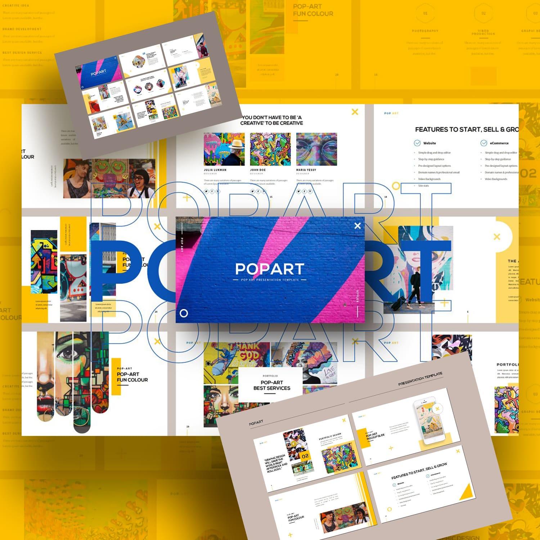 POPART Googleslide Template main cover.