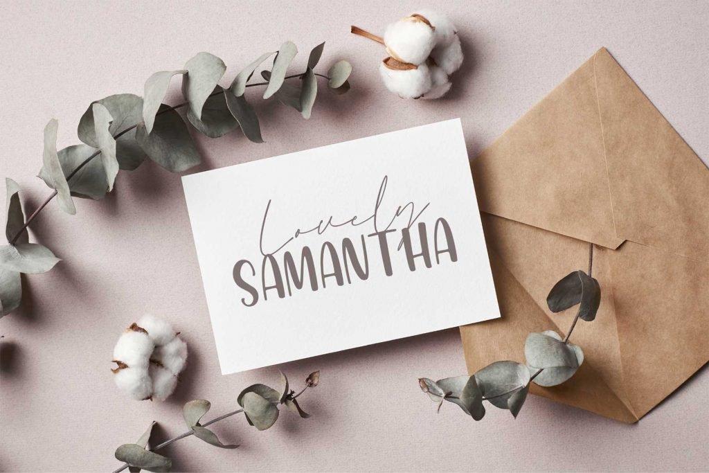 Honey Mints – A Handwritten Font Letter Preview.