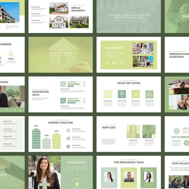 Bridgemax Real Estate PowerPoint cover image.