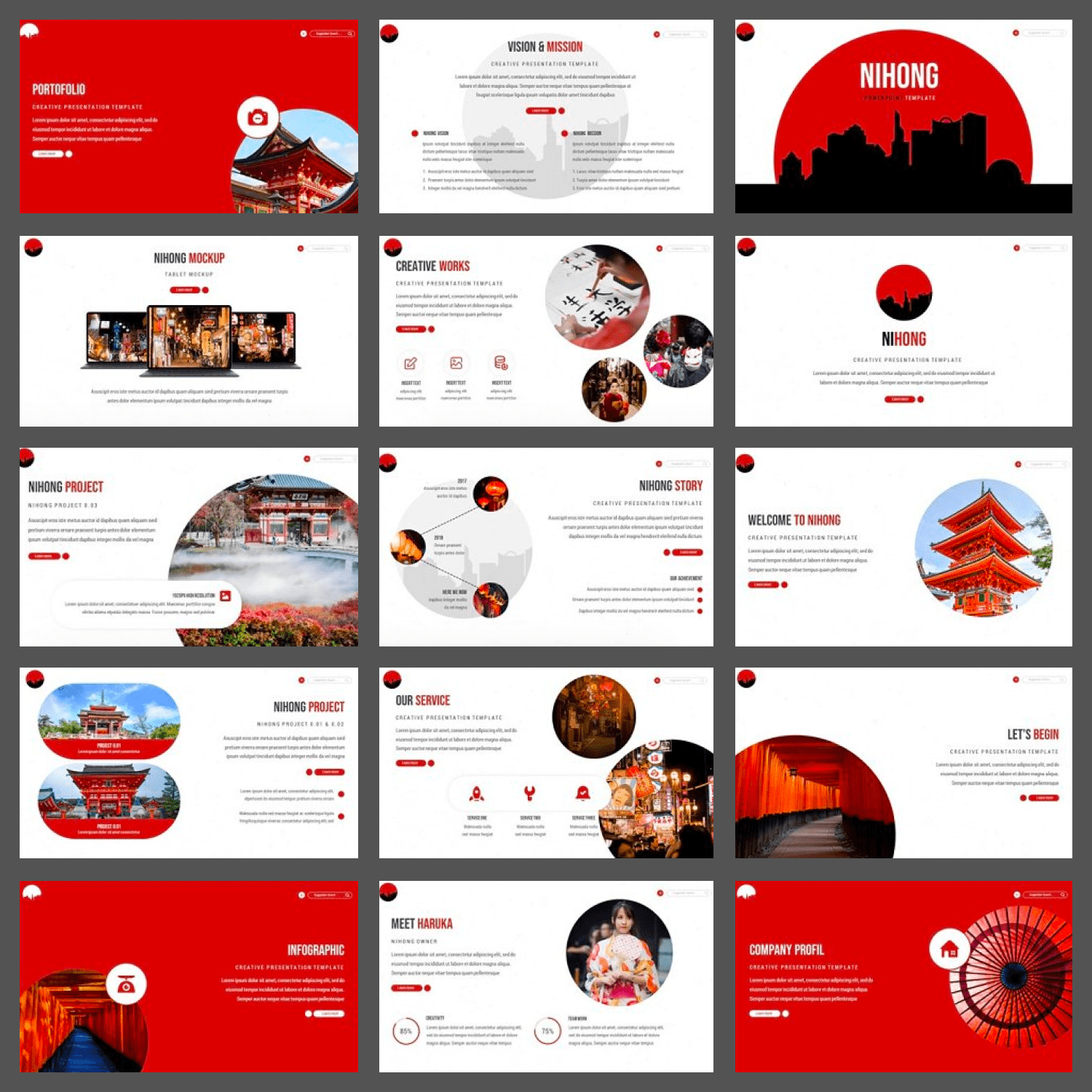 Nihong Powerpoint Template cover image.