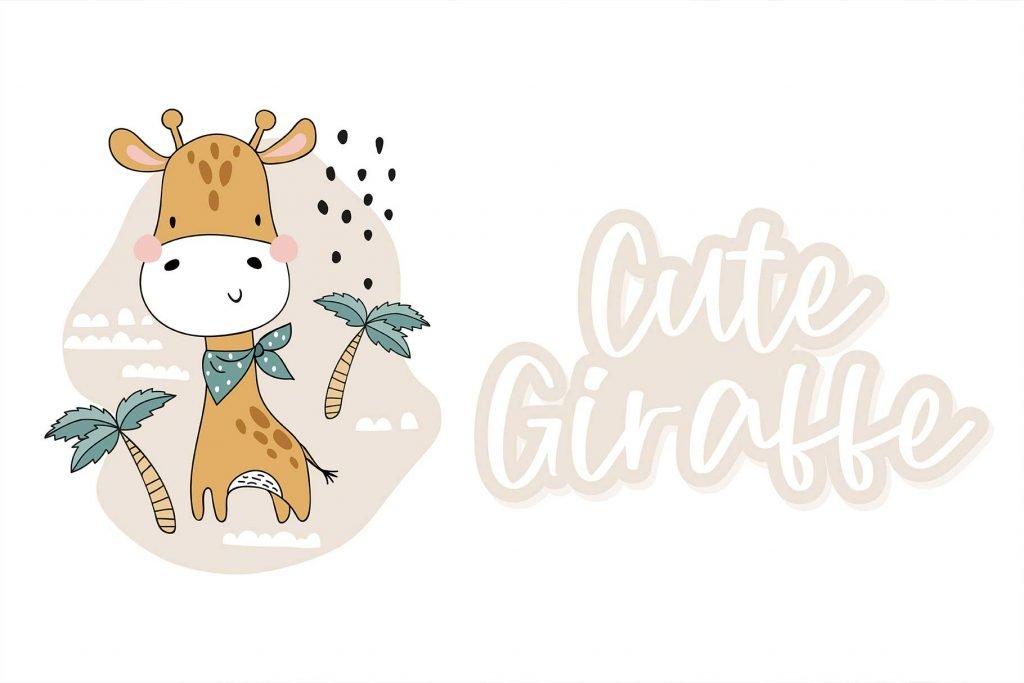 Sunday Morning - A Handwritten Script Font with Cute Giraffe.